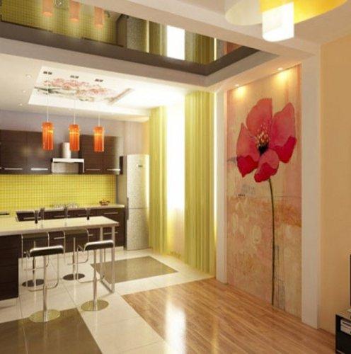 Дизайн покраски стен на кухне